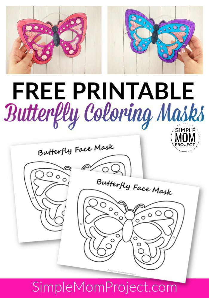 Free Printable Butterfly Mask Template Coloring Activity