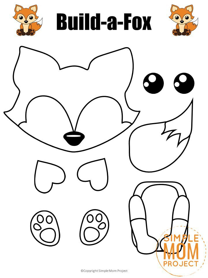 Free Printable Fox Face Mask for Kids, preschoolers and toddlers Watermark