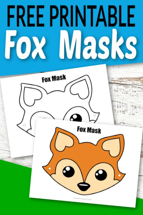 For Halloween or a woodland animal theme party, these free printable fox mask templates are perfect! Pretend to be an arctic for even fantastic Mr. Fox! With the printable fox mask coloring pages and another ready to wear, I know your kids will adore their new fox masks in dramatic play! #foxcrafts #foxmasks #foxmasktemplates #SimpleMomProject