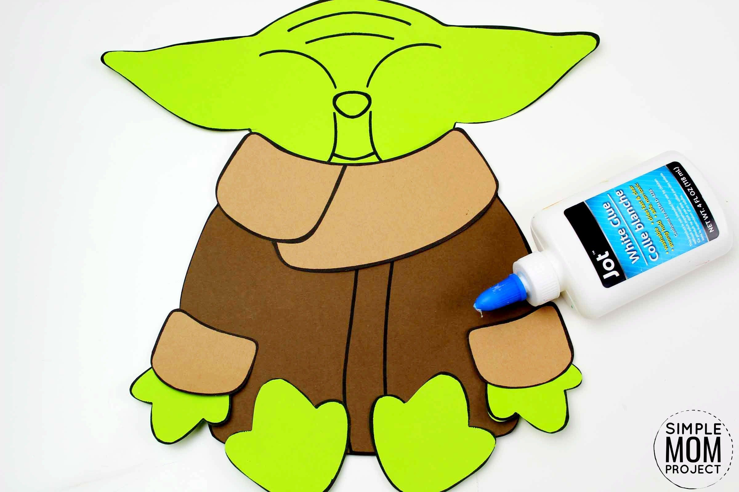 Free Printable Star Wars Baby Yoda Craft for Kids, Preschoolers and toddlers 4