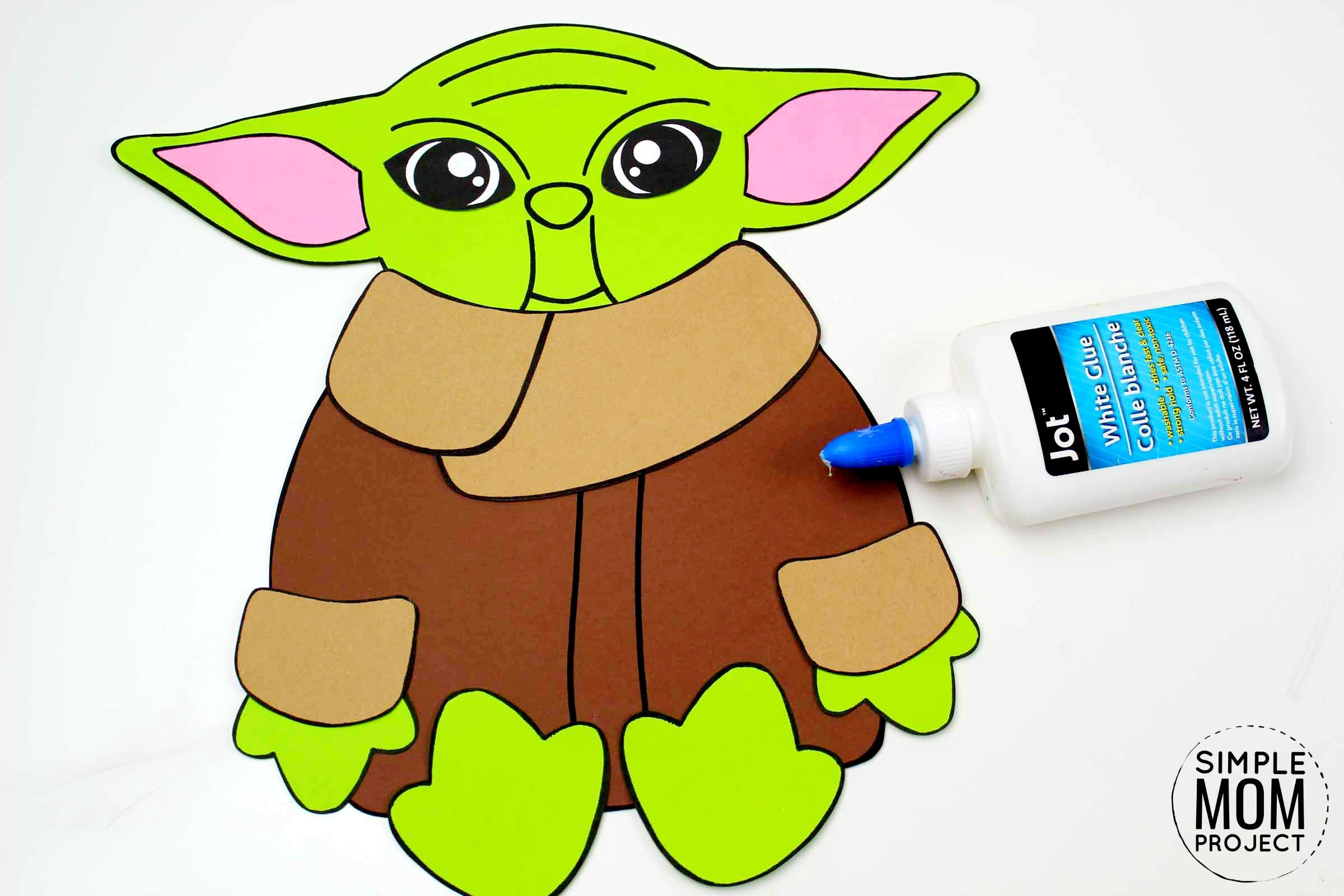 Free Printable Star Wars Baby Yoda Craft for Kids, Preschoolers and toddlers 5