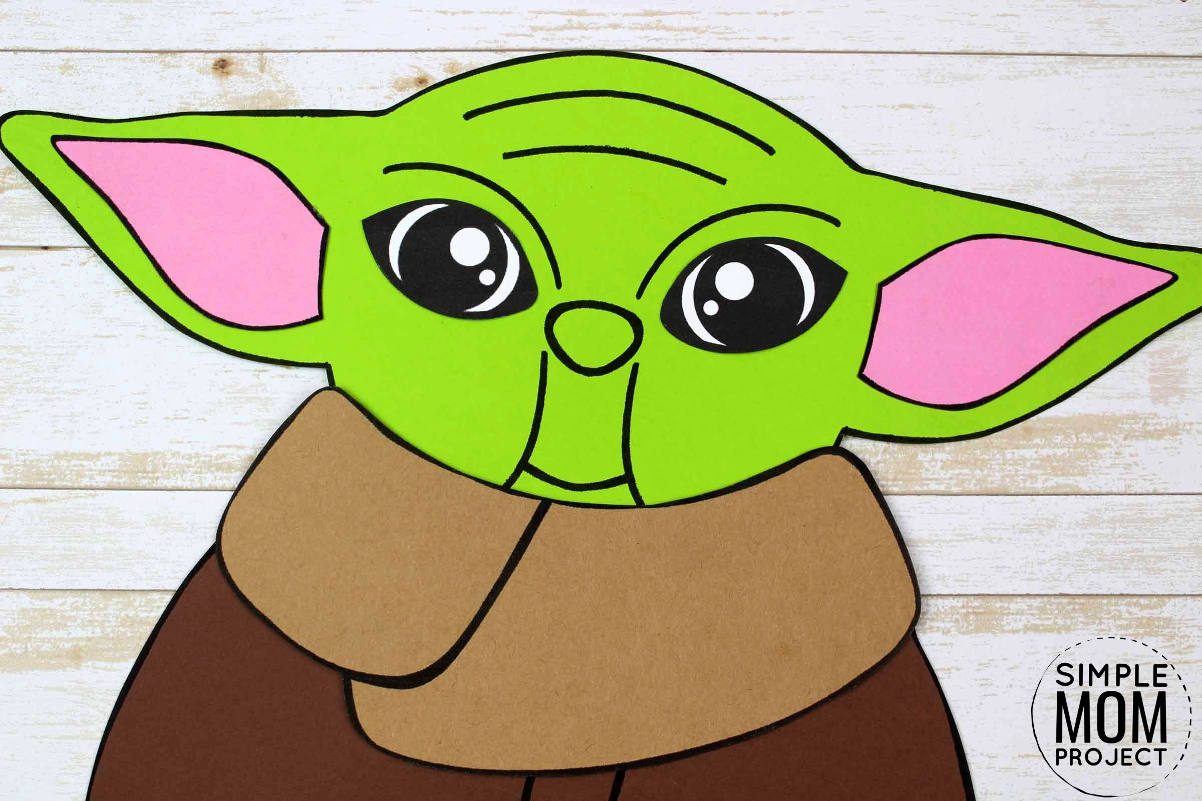 Free Printable Star Wars Baby Yoda Craft for Kids, Preschoolers and toddlers 6