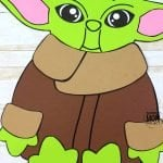 This fun Star Wars Yoda craft is perfect for kids of all ages; including preschoolers and toddlers! Build a paper bag puppet with the free printable Yoda template, give him as a fun Father's day gift for dad or turn him into a coloring activity! #Starwars #StarwarsCrafts #YodaCrafts #BabyYodaCrafts