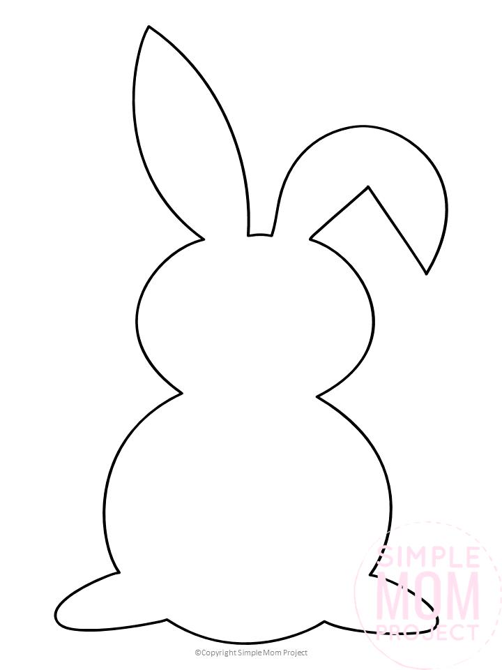 Free Printable Bunny Template