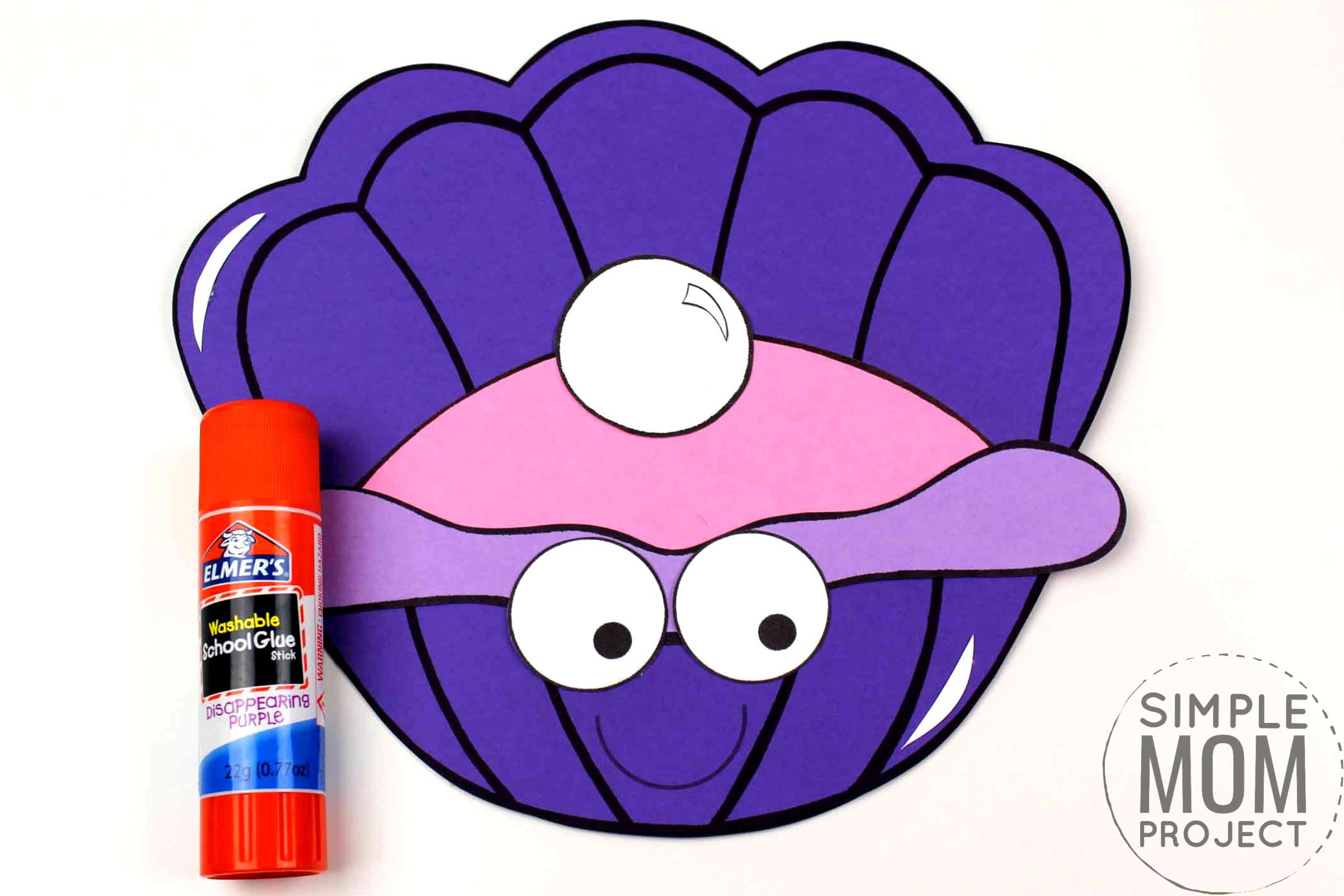 Free Printable Ocean Animal Clam Crafts for kids of all ages, including preschoolers and toddlers