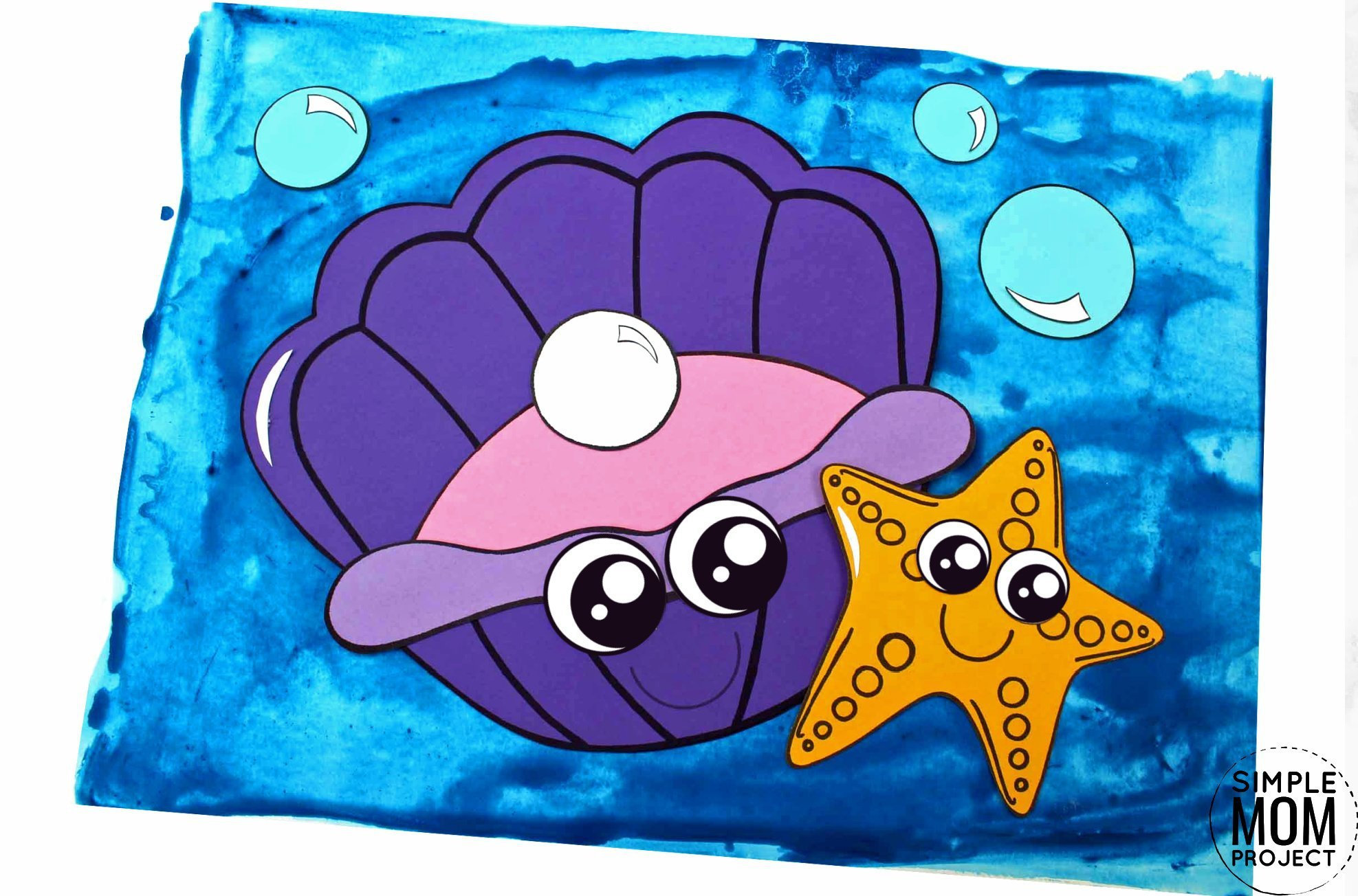 Free Printable Ocean Animal Clam Crafts for kids of all ages, including preschoolers and toddlers 1