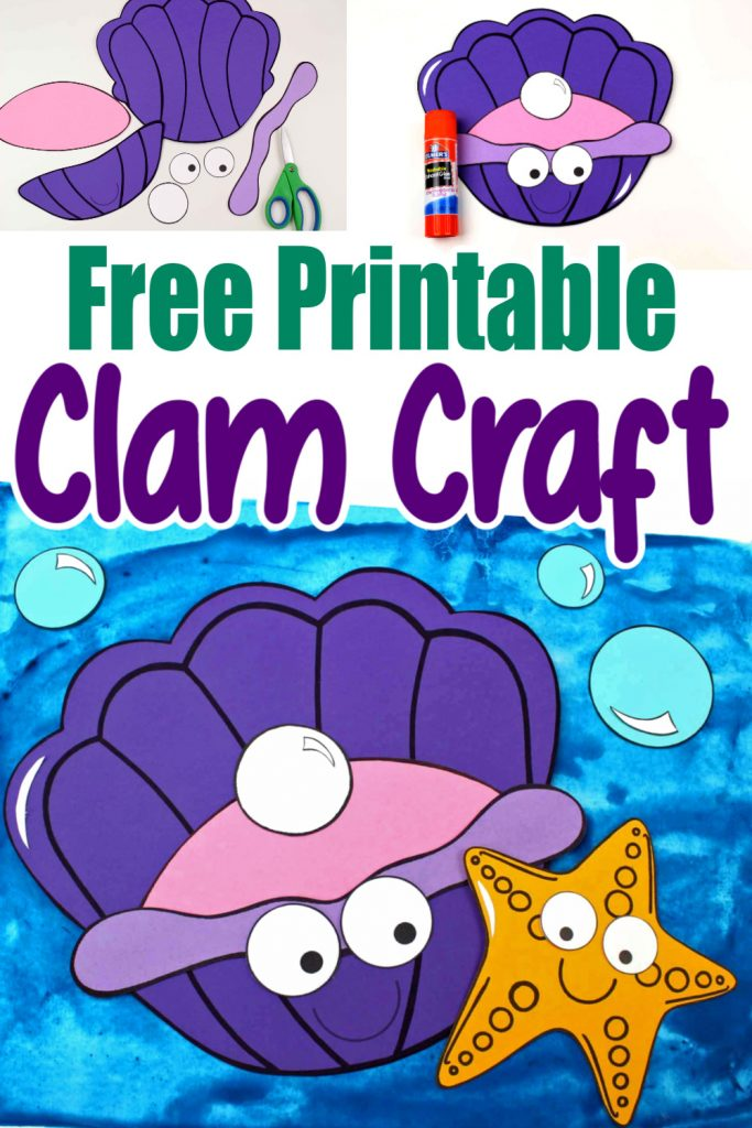 Whether you are taking a trip to the beach or learning about seashells, this adorable clam shell, free printable craft is for you! Use the clam template during vacation bible school, at home, or in the classroom during your under the sea unit or ocean theme! #clamcrafts #clamshellcrafts #oceananimalcrafts #oceananimals
