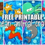 These easy and fun free printable ocean animal under the sea creatures are the perfect summer craft to do with kids of all ages. Your preschooler and toddlers will love making them too! All of these under the sea creatures contain free printable templates and easy to follow tutorials. #oceananimals #oceananimalcrafts