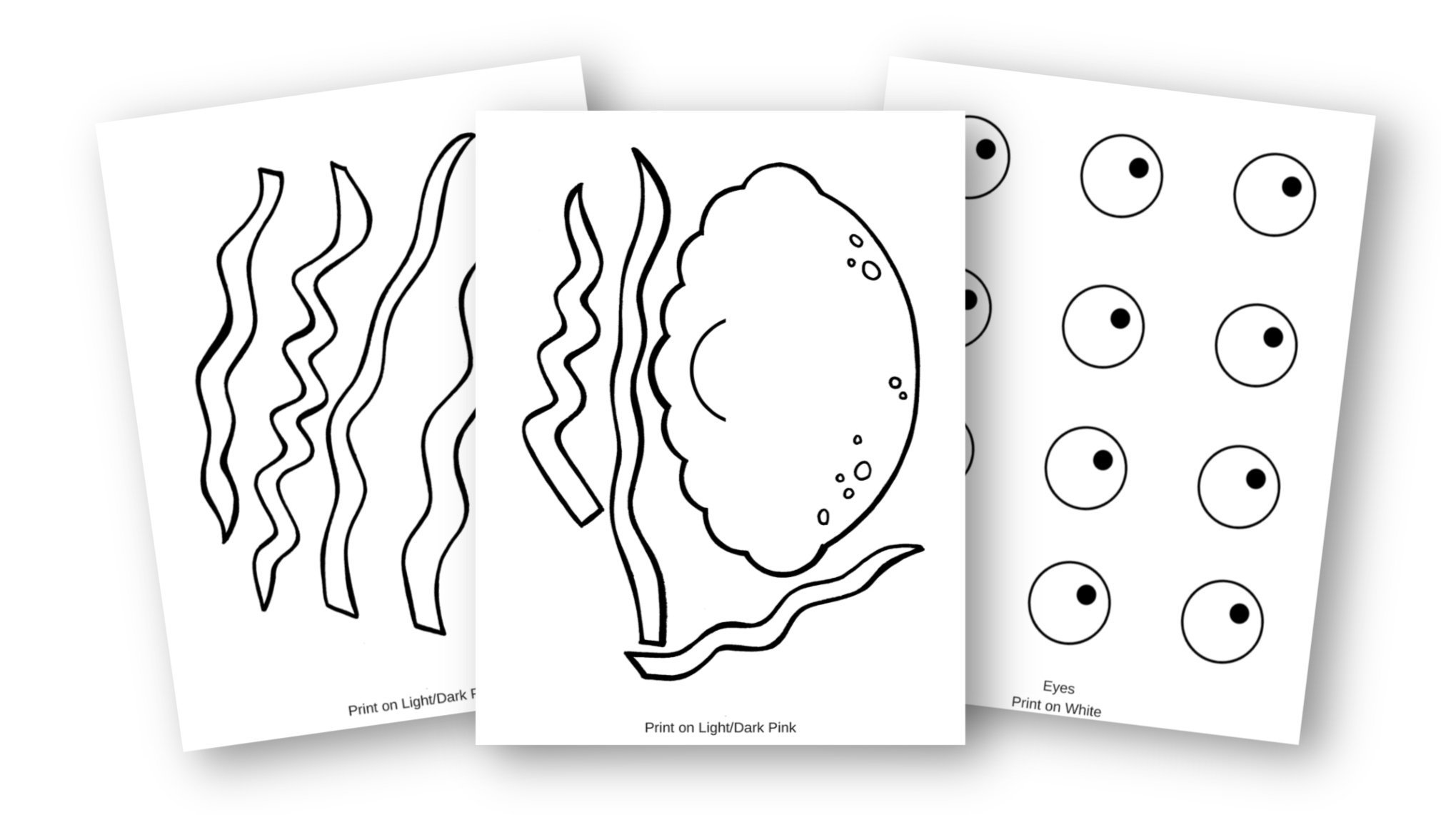 Free Printable Ocean Animal Jellyfish Crafts for kids of all ages, including preschoolers and toddlers