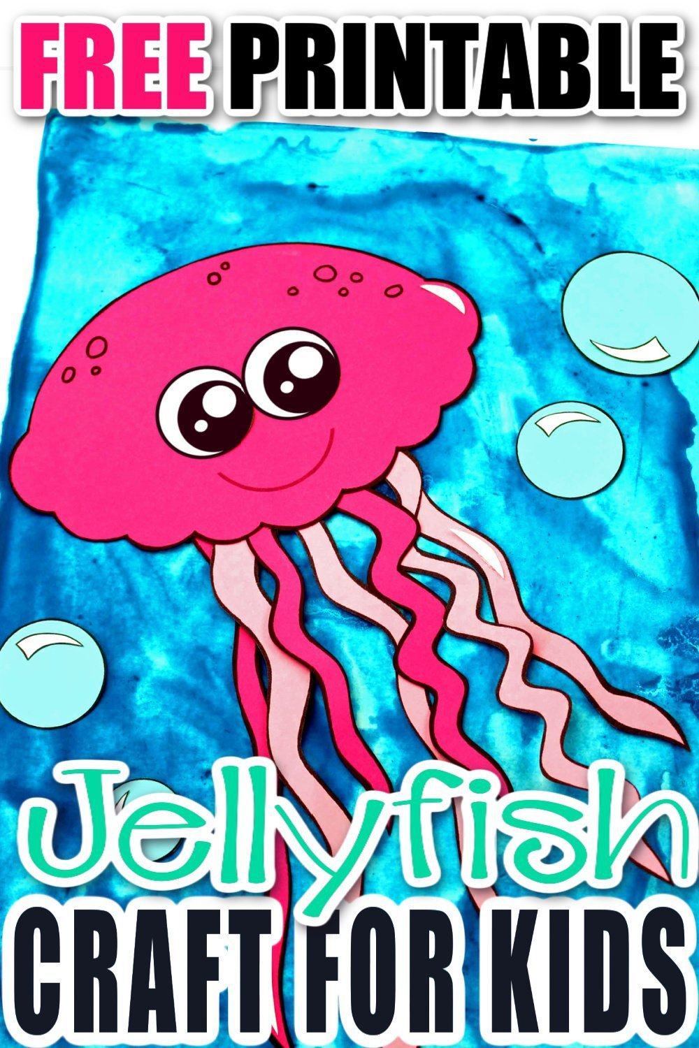 Teaching the letter J or exploring ocean animals with your preschooler or toddlers kids? Use the free printable template and make your own jellyfish craft friend. He is the perfect, easy under the sea art project to do this summer! #jellyfishcrafts #jellyfish #oceananimals #oceananimalcrafts #SimpleMomProject