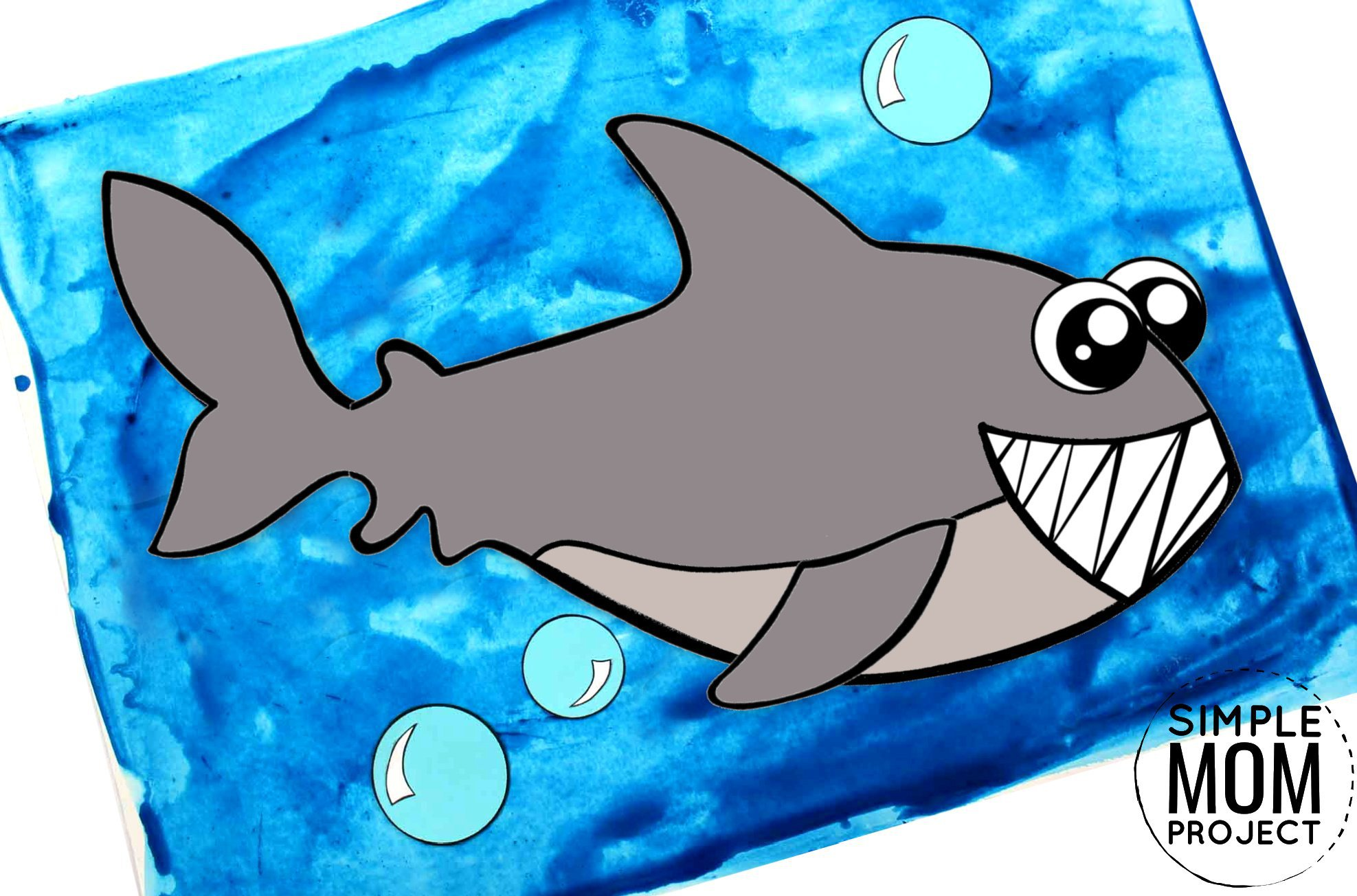 Free Printable Ocean Animal Shark Crafts for kids of all ages, including preschoolers and toddlers