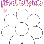 Use this free printable classic flower template as a fun felt pattern, sun catcher, a printable flower coloring sheet or a greeting card! #flower #FlowerTemplate #FlowerCrafts
