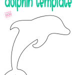 This free and easy dolphin template is ready to print. Give him to your preschooler for a sea creature coloring page, use the dolphin outline for under the sea sun catchers or use the dolphin outline for a tracing activity #dolphintemplate #dolphincrafts #dolphin