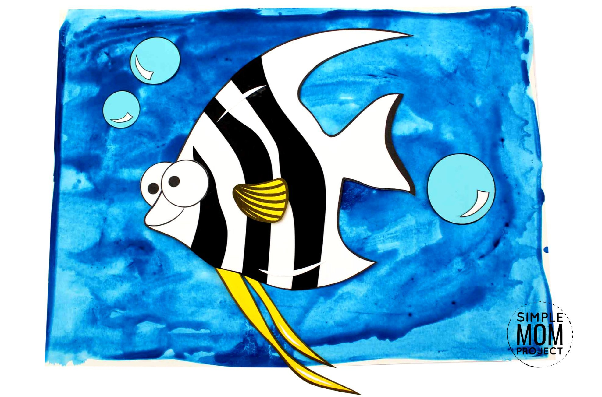 Free Printable Angel Fish Ocean Animal Craft for Kids, preschoolers and toddlers