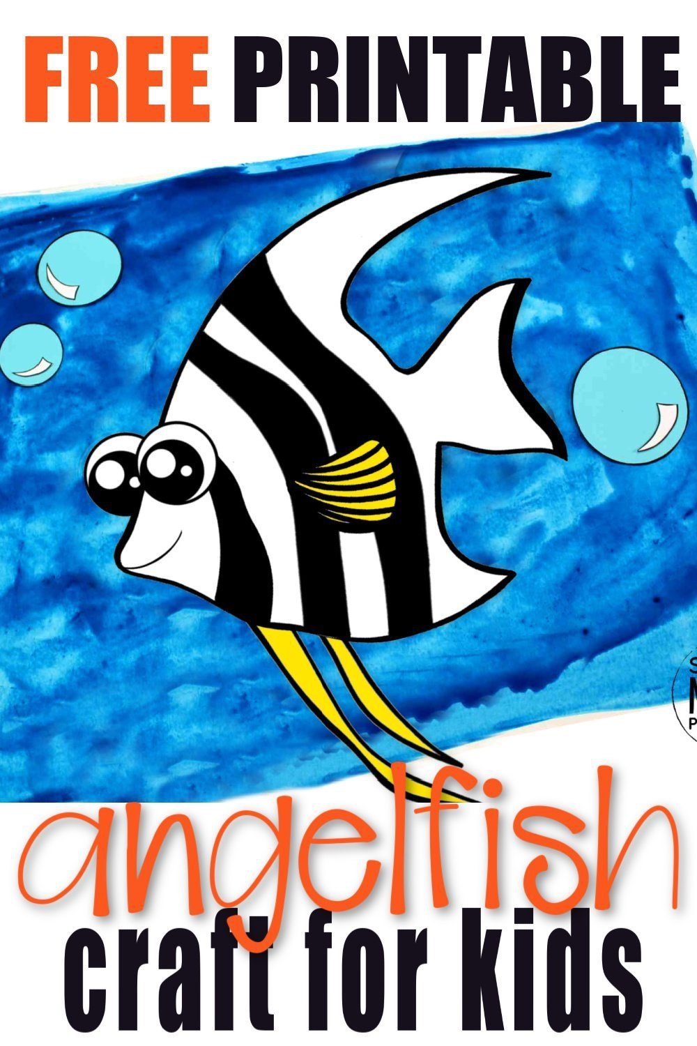 Free Printable Angel Fish Ocean Animal Craft for Kids, preschoolers and toddlers 1
