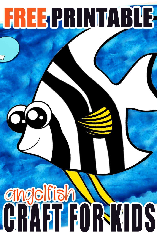 Free Printable Angel Fish Ocean Animal Craft for Kids, preschoolers and toddlers 1