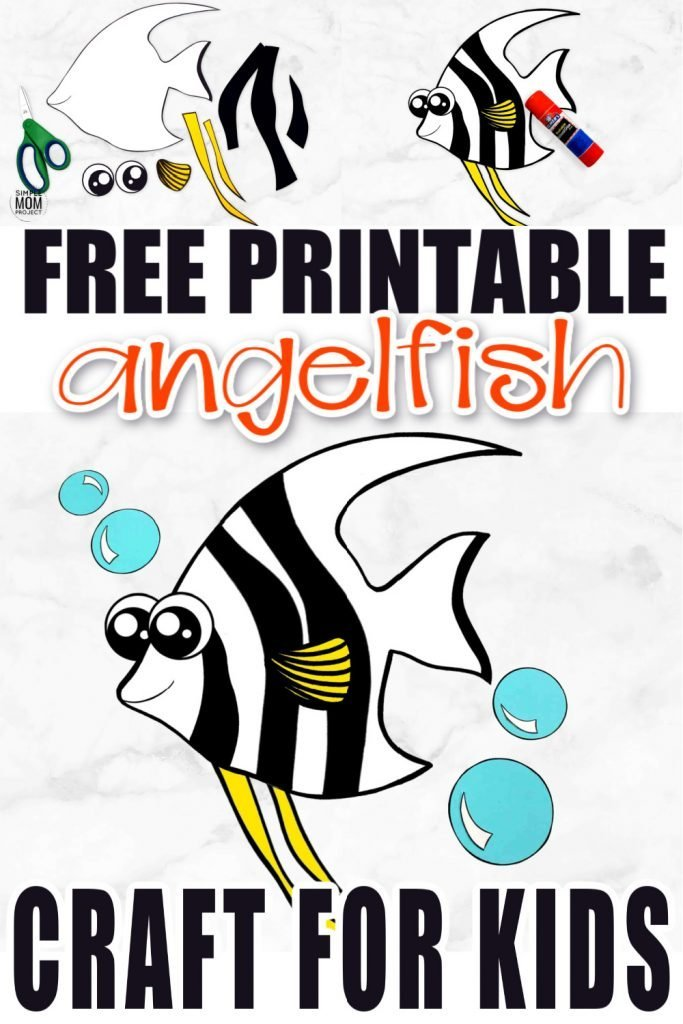 Planning an ocean theme lesson plan? What about a trip to the aquarium? You'll want to snag up this free printable angelfish craft! He is especially a favorite of the preschooler and kindergarten classes although all kids will love making their own angelfish while they work within their ocean theme! #angelfish #angelfishcraft #oceananimals #oceananimalcrafts #SimpleMomProject