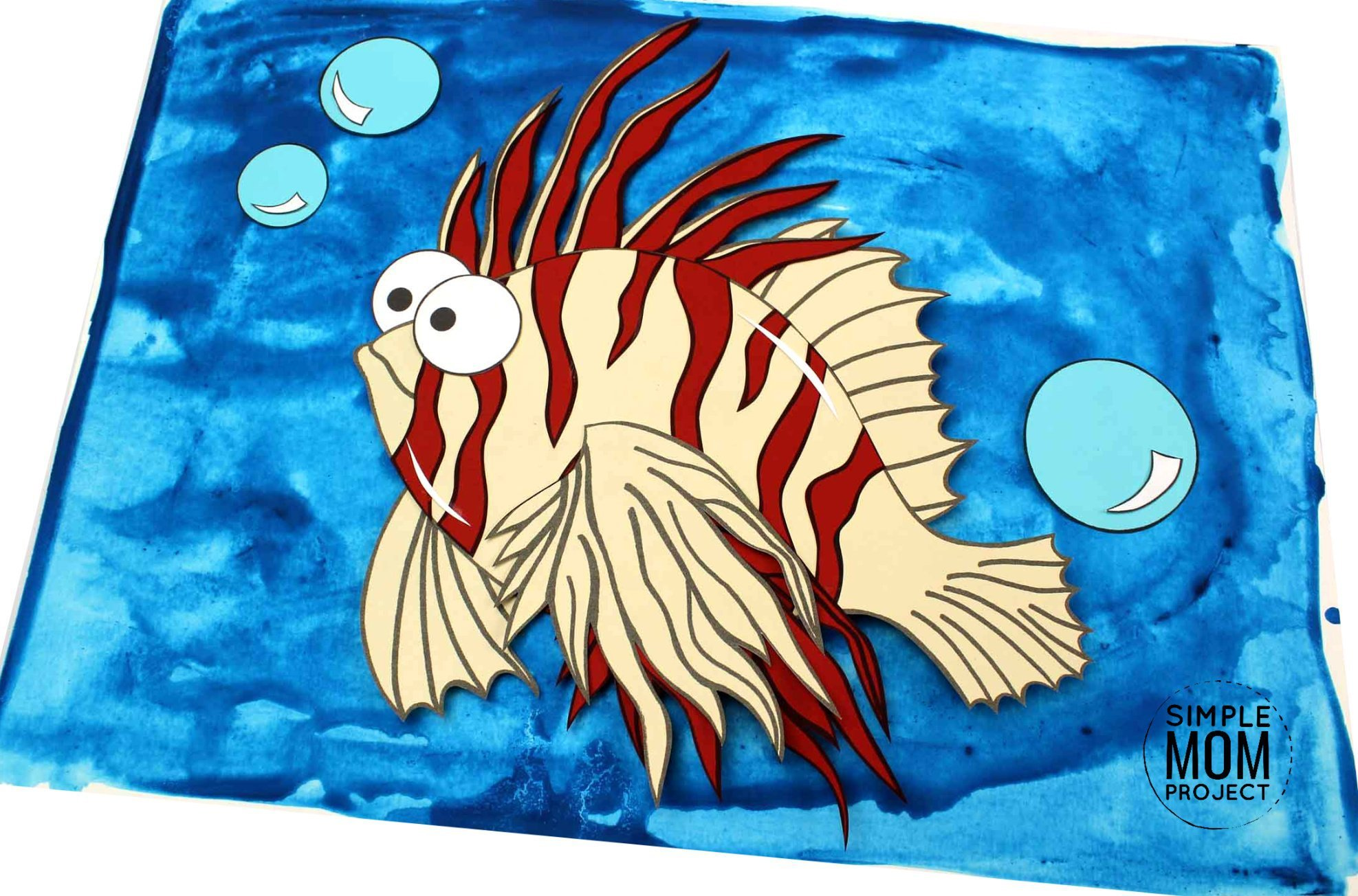 Free Printable Lionfish Ocean Animal Craft for Kids, preschoolers and toddlers