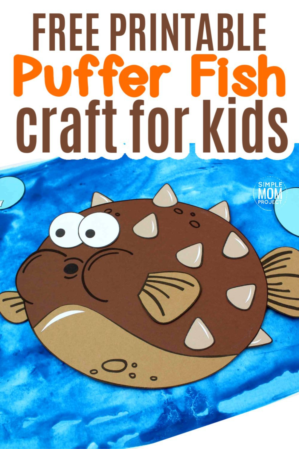 Are you feeling crafty this morning? Use our free printable blowfish puffer fish template to make this adorable ocean themed craft! You don't need a paper plate to make this blow fish and puffer fish friend. Just grab your kids, preschoolers or toddlers and start crafting! #blowfish #pufferfish #blowfishcrafts #pufferfishcrafts #oceananimals #oceananimalcrafts