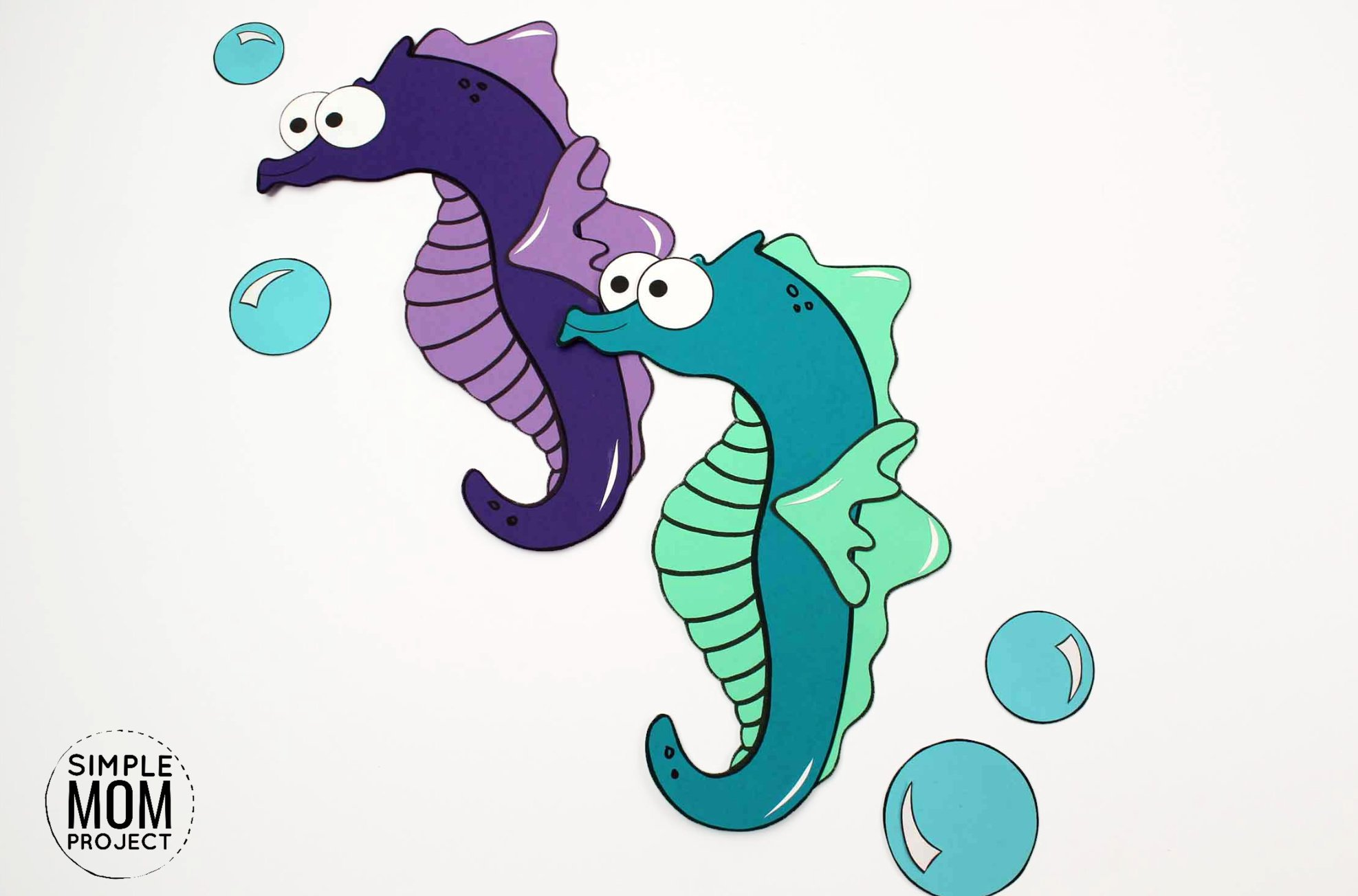 Fun Seahorse Craft For Kids With Free Seahorse Template