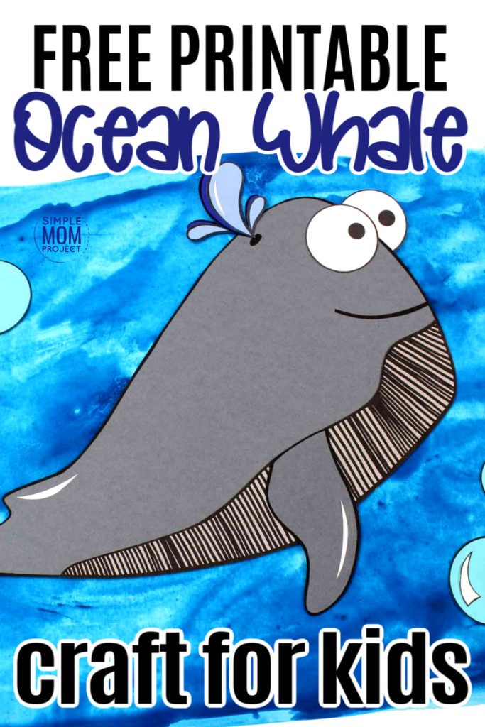 Looking for a fun summer craft or maybe a greeting card for Father's day? Click now to print the free sperm whale template and make this adorable sperm whale craft. He is also the perfect whale to teach the bible lesson of Jonah and the whale! #whalecrafs #spermwhalecrafts #oceananimals #oceananimalcrafts #biblecrafts #simplemomproject