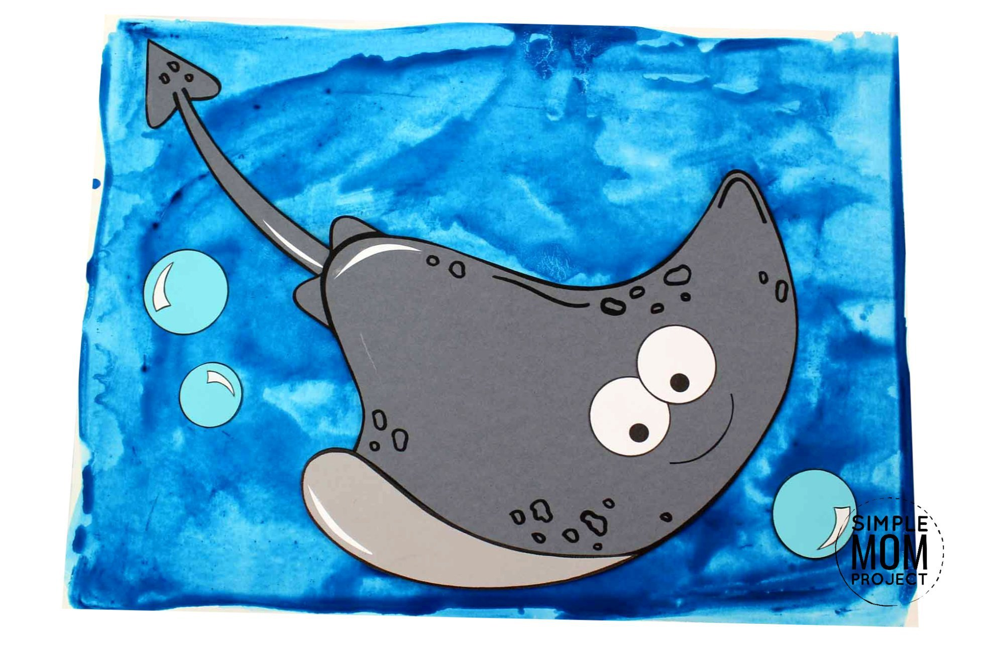 Free Printable Stingray Ocean Animal Craft for Kids, preschoolers and toddlers