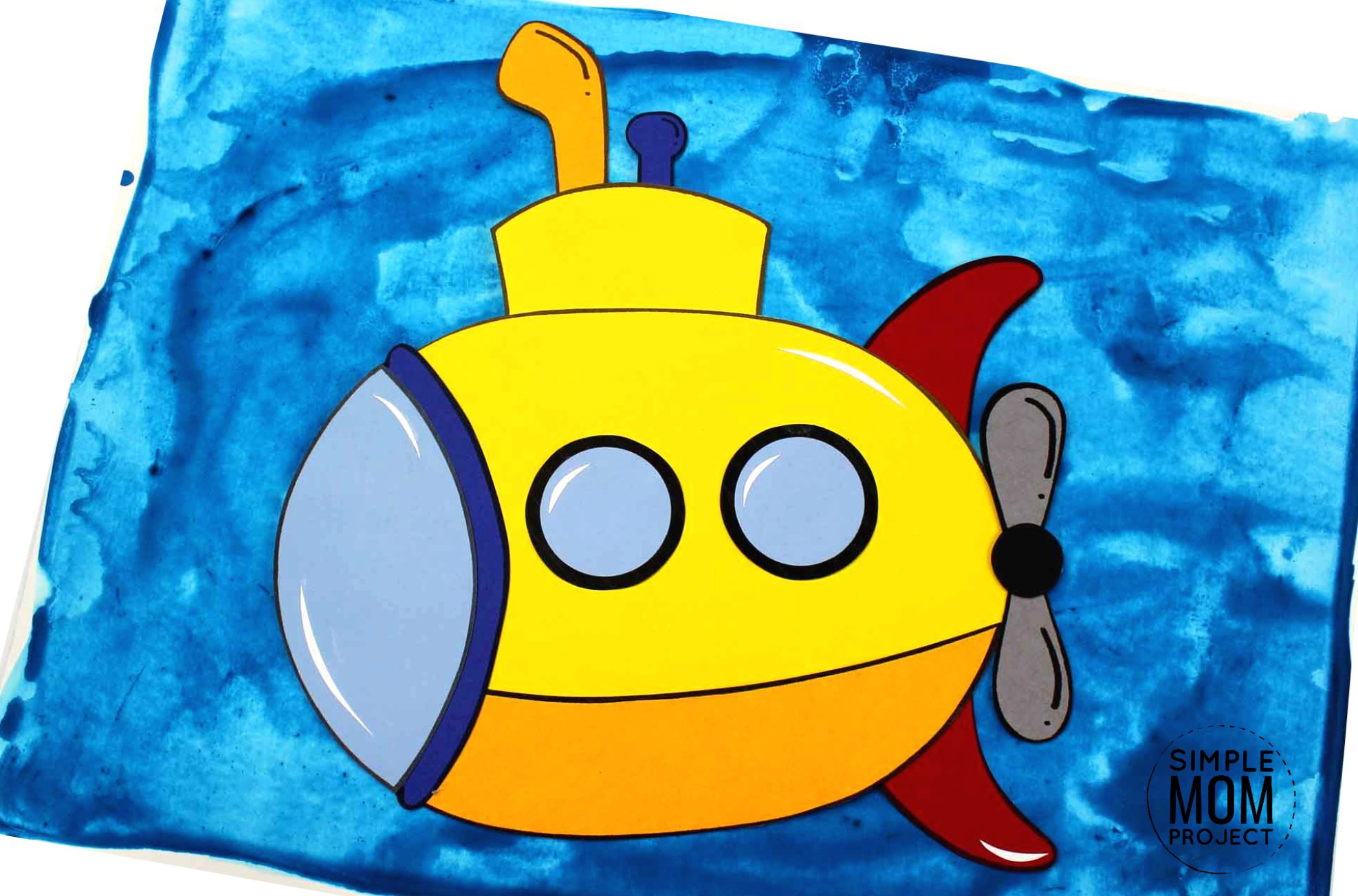 Free Printable Submarine Ocean Animal Craft for Kids, preschoolers and toddlers