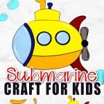 This easy yellow submarine craft is the perfect addition to a vbs summer craft for kids of all ages including preschoolers, toddlers and kindergarten age students. Use the free printable submarine template to make this fun ocean or beach theme art project! #submarine #submarinecraft #SimpleMomProject