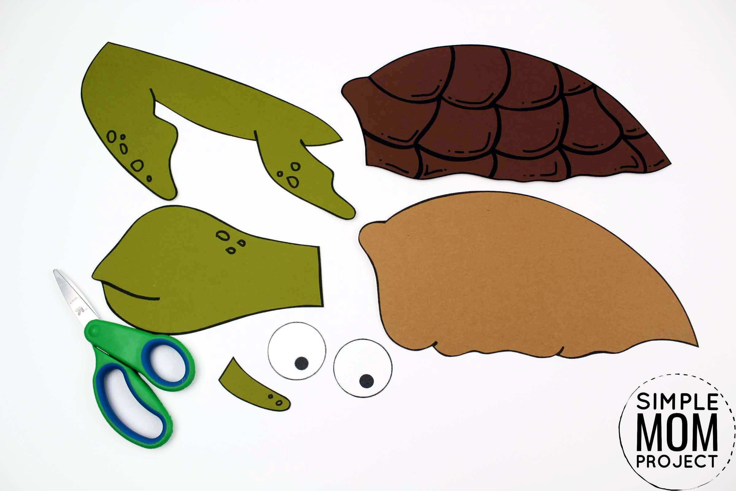 Free Printable Turtle Ocean Animal Craft for Kids, preschoolers and toddlers