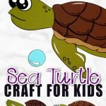 Looking for a fun sea turtle craft? You won't need a paper plate for this beach art project! Use our free printable sea turtle template to make this easy diy ocean animal craft idea! He is simple and fun for even the smallest of kids, preschoolers and toddlers! #turtle #turtlecrafts #oceananimal #oceananimalcrafts #simplemomproject
