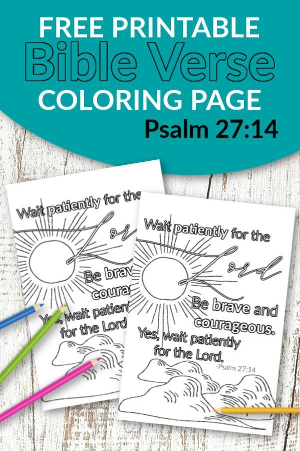 Don't you know the best quotes come from Scripture? Use these free printable bible verse coloring pages to get inspired about God. He is after all our salvation. This Psalm 27:14 coloring sheet is great for kids and adults, even preschoolers. They are perfect for wall decor or even a quick gift idea! #bibleverse #bibleversecoloring #scripturecoloring #biblejournaling
