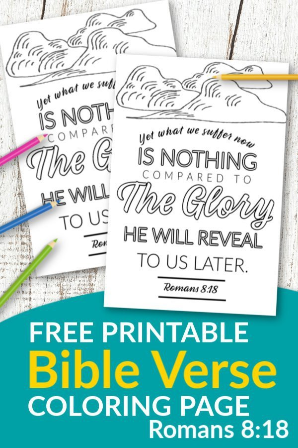 Romans 8 18 The Glory Revealed Free Printable Bible Verse coloring page for kids and adults