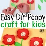 Looking for a remembrance activity or craft for Veteran's Day, anzac or Memorial Day? This simple poppy craft is perfect! The easy red poppy flower activity is simple for kids of all ages including preschoolers, toddlers and kindergartners! #poppy #poppycrafts #Veteransdaycrafts #memorialdaycrafts #SimpleMomProject