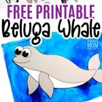 This easy beluga whale craft is fun for kids of all ages including preschoolers and kindergartners! With the free printable beluga whale template, these make the perfect Sunday school bible lesson when teaching of Jonah and the Whale #belugawhalecrafts #whalecrafts #oceananimals #arcticanimalcrafts #SimpleMomProject