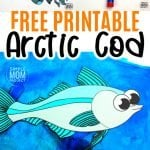 Fish crafts are not only great for summer but great for winter too! How cool is this arctic cod fish craft? Use the free printable arctic cod fish template to make this easy underwater ocean animal. He is perfect for kids of all ages including preschool, kindergartner, toddler #fishcraft #arcticanimal #arcticcodcraft #oceananimals #SimpleMomProject