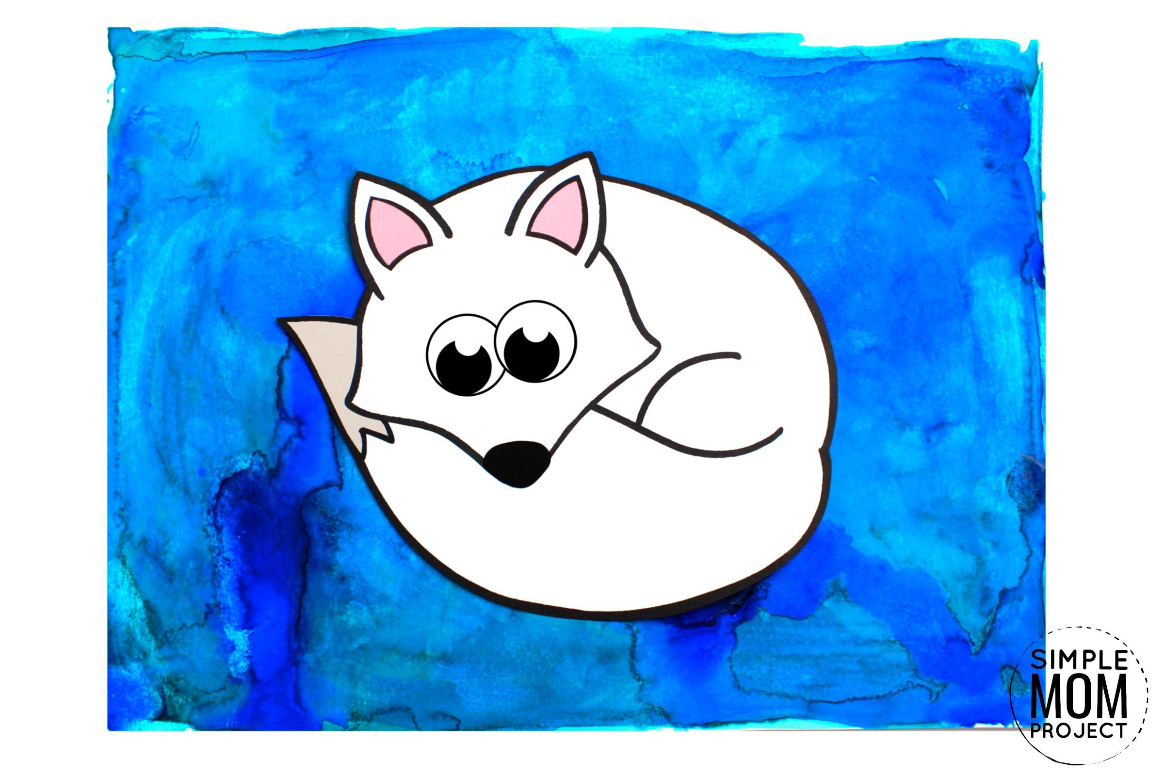 Free Printable Arctic Animal Fox Craft for Kids Preschoolers and Toddlers