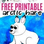 Looking for a fun winter arctic animal craft idea? Use our free printable arctic hare template to make this super cute arctic hare craft. He is perfect for kids of all ages, especially preschoolers, toddlers and kindergartners. #arctichare #arcticharecraft #arcticanimal #arcticanimalcraft #SimpleMomProject