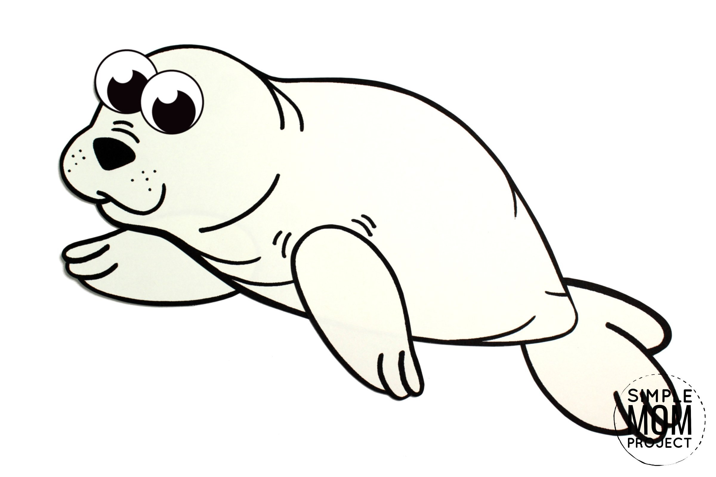Free Printable Arctic Animal Harp Seal Craft for Kids Preschoolers and Toddlers