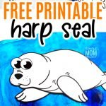 Looking for a step-by-step harp seal craft? Use the free printable seal template and either cut and paste or turn this arctic animal harp seal into a fun coloring activity! #harpseal #arcticanimal #arcticanimalcrafts #SimpleMomProject