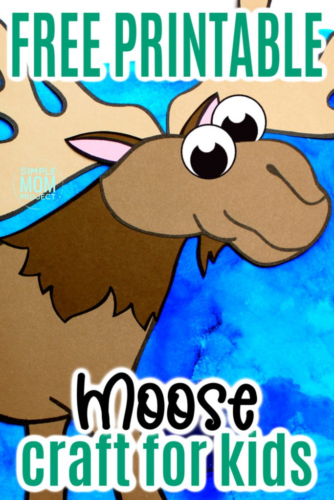 Are you teaching the letter M to your preschooler or toddler? Use our free printable moose template, grab some construction paper and make this adventurous arctic animal moose craft! This moose craft is a great art project for kids of all ages, including kindergartners! #moosecrafts #arcticanimals #arcticanimalcrafts