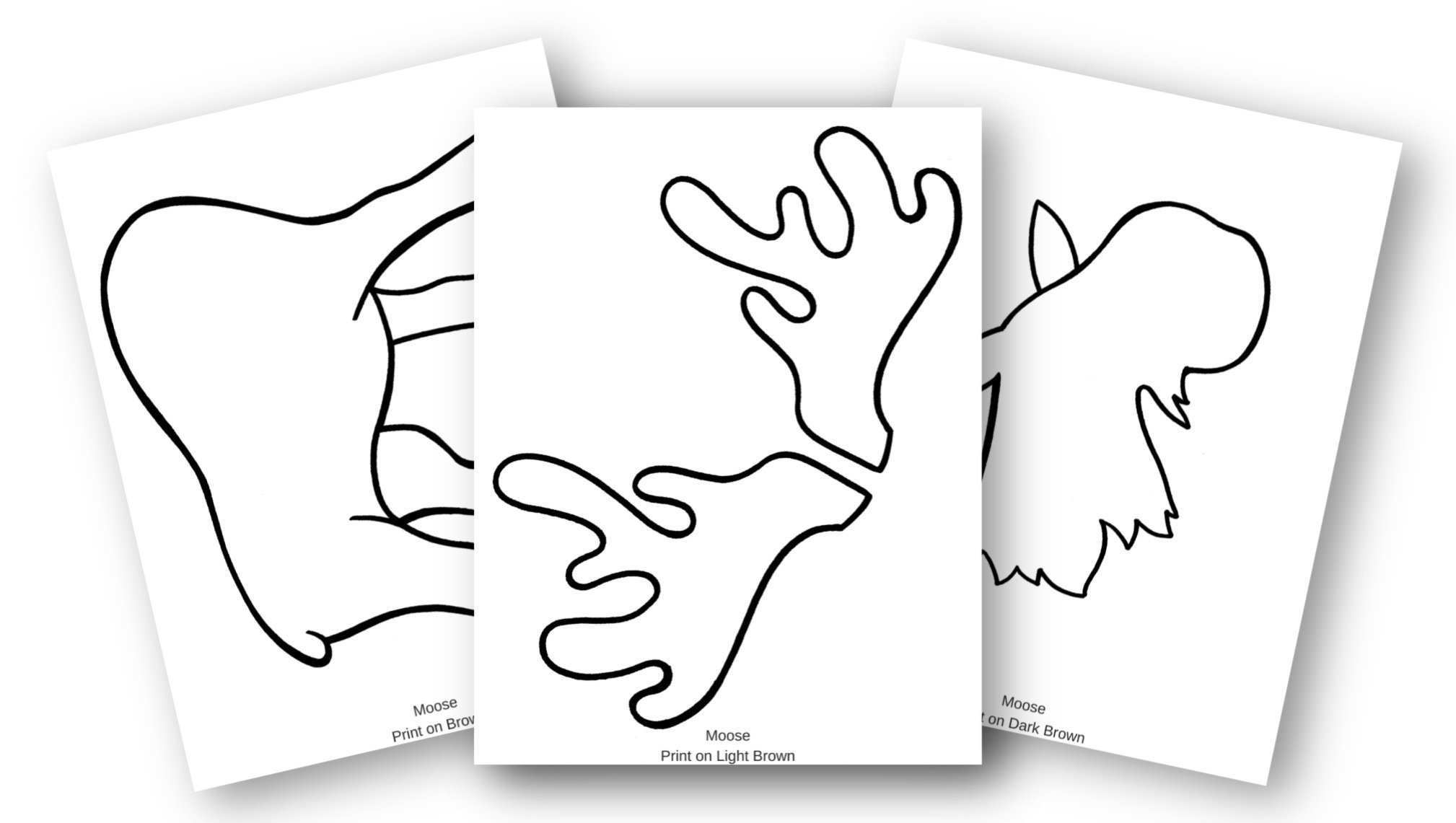 Free Printable Arctic Animal Moose Craft for Kids Preschoolers and Toddlers