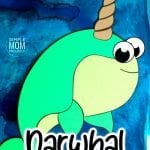 Are you teaching the letter N to your preschooler or planning a narwhal birthday party? Use our free printable narwhal template and your favorite narwhal plush and make this easy diy narwhal craft. This cute arctic animal narwhal craft is a great paper craft for kids of all ages including kindergartners and toddlers #narwhal #narwhalbirthday #narwhalcrafts #arcticanimals #arcticanimalcrafts #SimpleMomProject