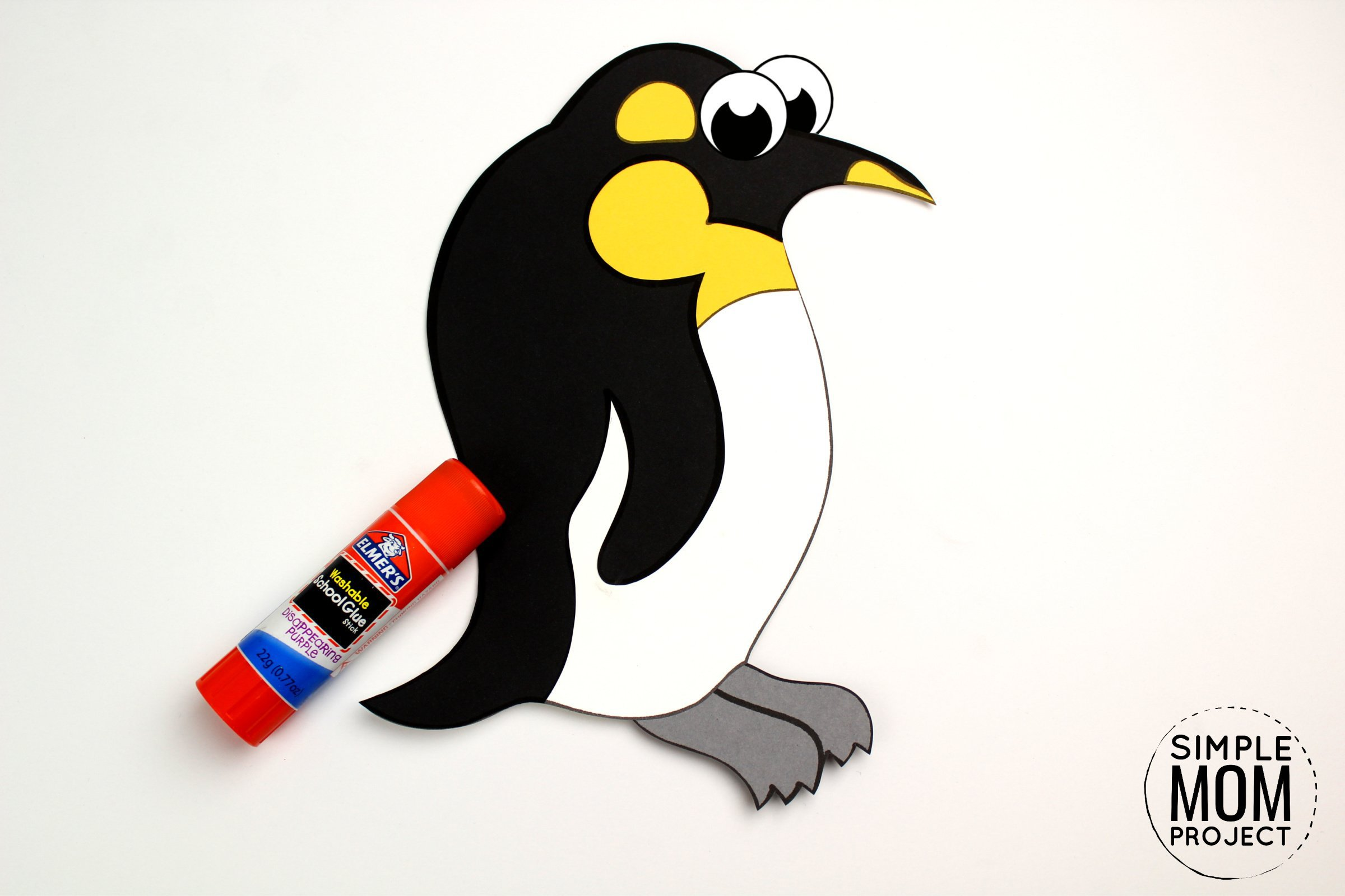 Free Printable Arctic Animal Penguin Craft for Kids Preschoolers and Toddlers