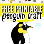 Click and get this free printable penguin template to make this fun penguin craft. This penguin craft is a great way to teach the letter P to your toddler, preschooler or kindergartner. So grab your construction paper and this penguin template and get started on this easy winter penguin craft! #penguincrafts #penguin #arcticanimal #arcticanimalcrafts #SimpleMomProject