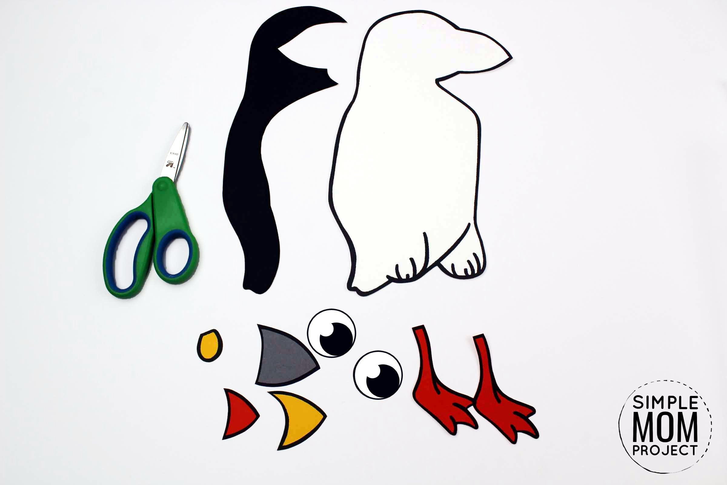 Free Printable Arctic Animal Puffin Craft for Kids Preschoolers and Toddlers