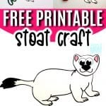 Looking for a step-by-step stoat craft? Use the free printable stoat template and either cut and paste or turn this arctic animal stoat into a fun coloring activity! #stoatcrafts #arcticanimals #arcticanimalcrafts #SimpleMomProject