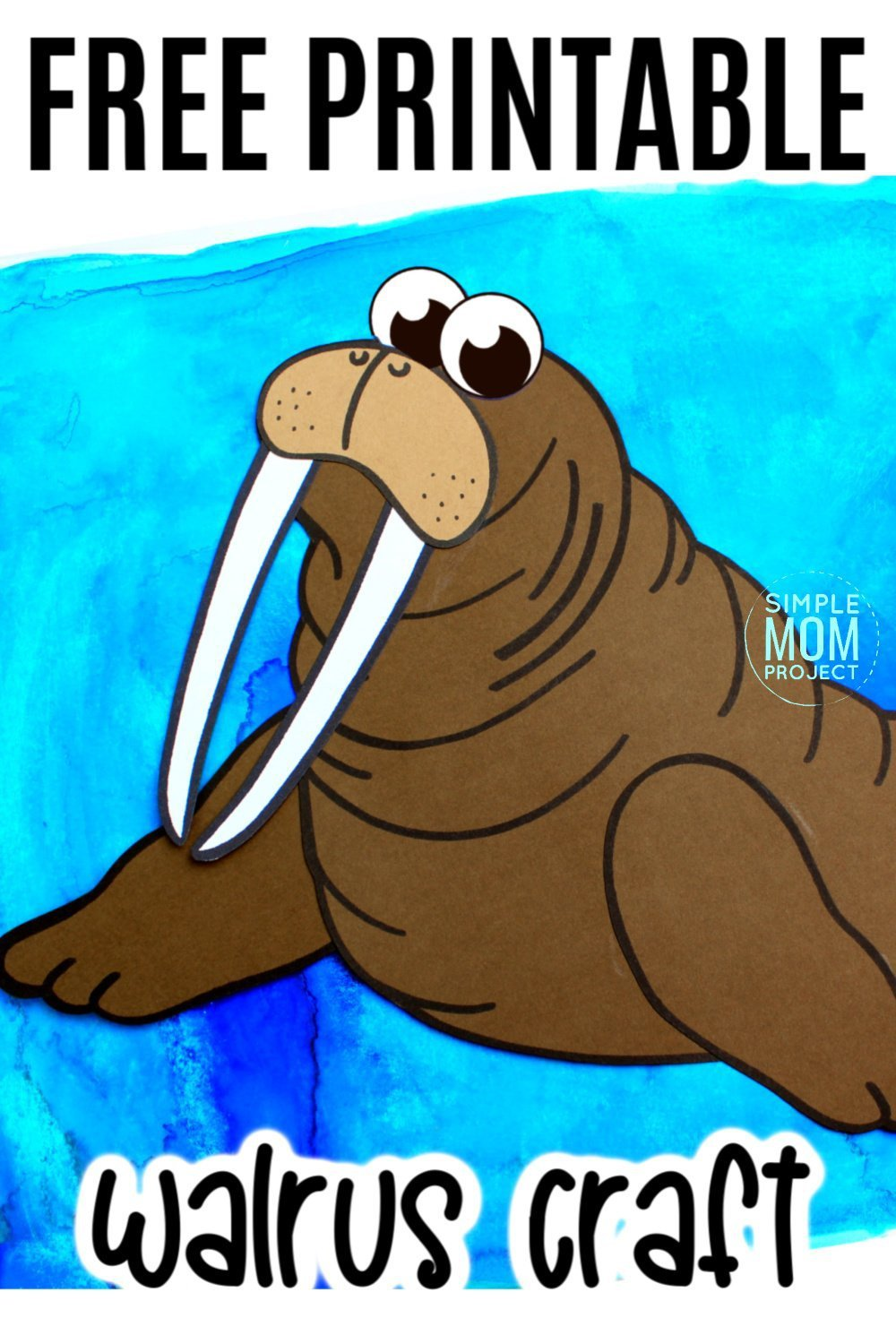 Free Printable Arctic Animal Walrus Craft for Kids Preschoolers and Toddlers