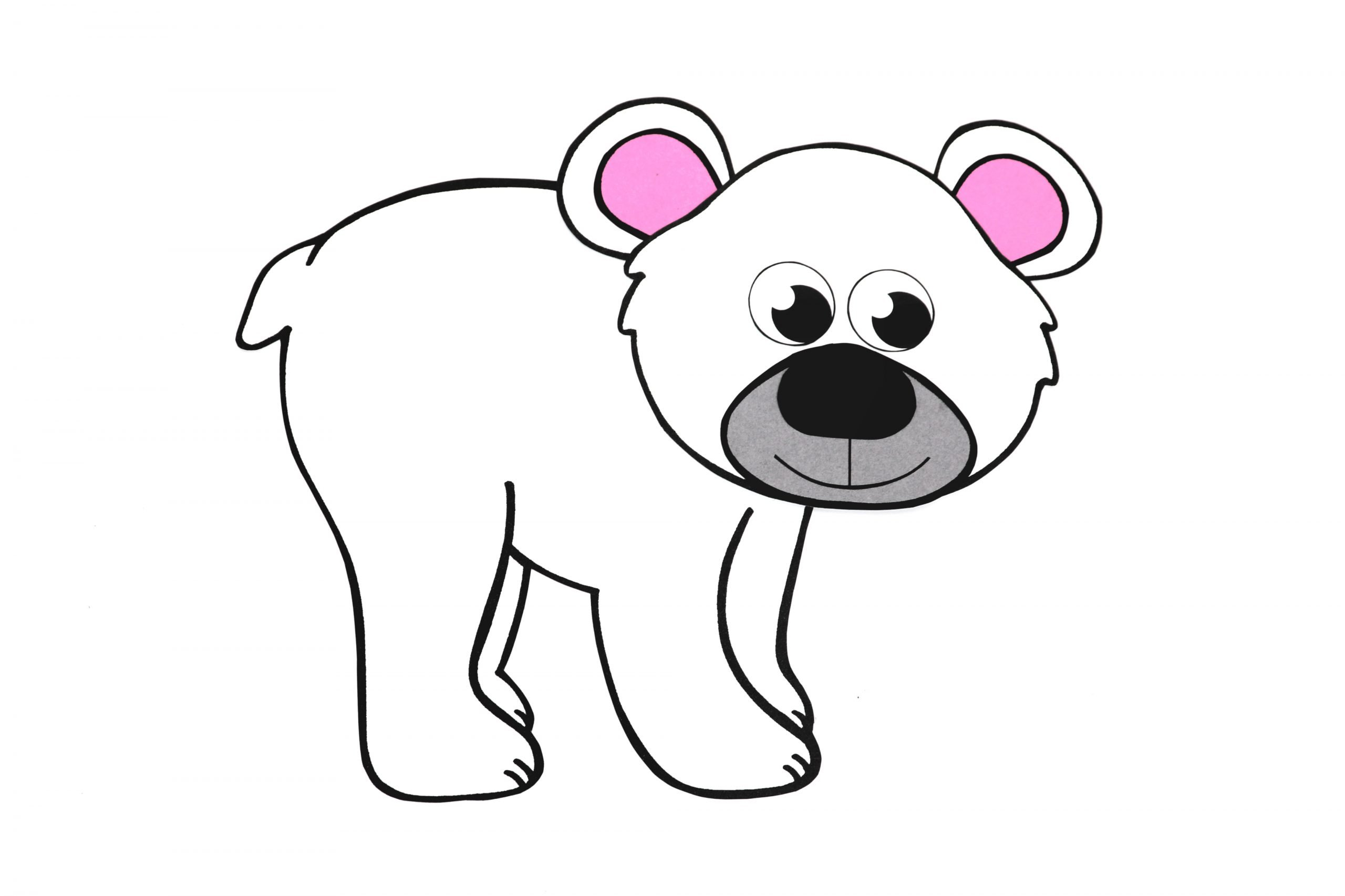Free Printable Arctic Polar Bear Craft for Kids Preschoolers and Toddlers