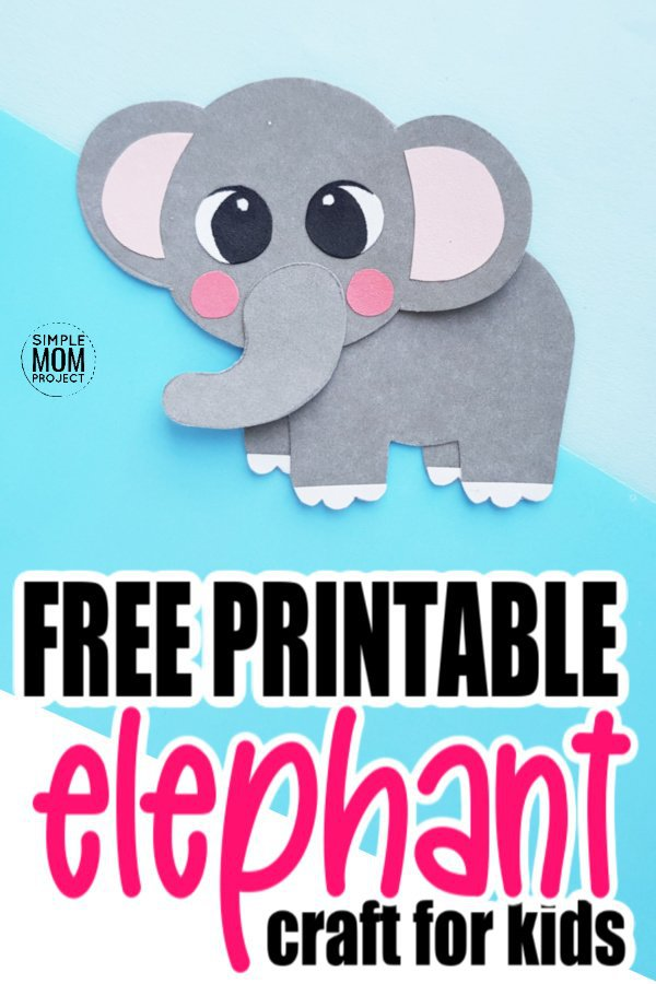 Free Printable elephant craft for kids preschoolers and toddlers