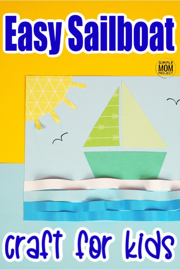 Click now and find the printable sailboat template to make this easy sailboat craft for kids of all ages including preschoolers, kindergartners and toddlers. This fun sailboat paper craft is the perfect summer vbs craft or a fun activity while you study over transportation vehicles #sailboat #sailboatcrafts #boat #boatcrafts #SimpleMomProject